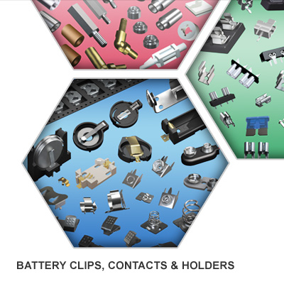 Battery Clips, Contacts, & Holders